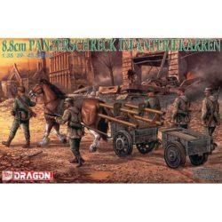 dragon 6104 8.8cm Panzerschreck Infanteriekarren kit en plástico para montar y pìntar.