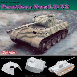 dragon 6822 Panther Ausf.D V2 Kit en plástico para montar y pintar. Cuatro opciones de decoración. Piezas +200