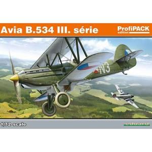 eduard 70101 Avia B.534 III. serie kit en plástico para montar y pintar. Incluye piezas en fotograbado y mascarillas. Cuatro opciones de decoración: Checoeslovaca, Eslovaca y Alemana.