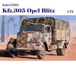 italeri 7014 Kfz 305 Opel Blitz Kit en plástico para montar y pintar. Incluye calcas para 5 decoraciones alemanas. Dimensiones 83mm