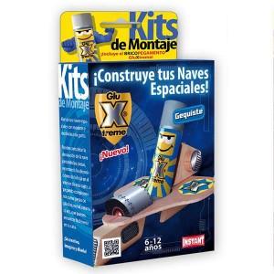 GluXtreme Kit de Montaje Gequiste ¡Construye tus naves espaciales! Monta tus naves espaciales con madera y decóralas a tu gusto.