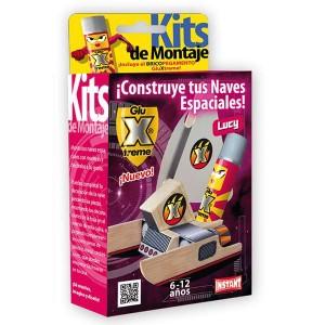 GluXtreme Kit de Montaje Lucy ¡Construye tus naves espaciales! Monta tus naves espaciales con madera y decóralas a tu gusto.