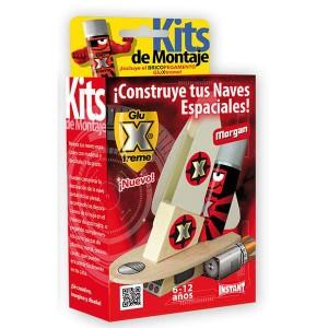 GluXtreme Kit de Montaje Morgan ¡Construye tus naves espaciales! Monta tus naves espaciales con madera y decóralas a tu gusto