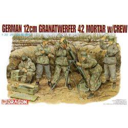 dragon 6090 German 12cm Granatwerfer 42 Mortar w/Crew Kit en plástico para montar y pintar. Incluye 5 figuras soldados alemanes con uniforme de invierno, un mortero 12cm Granatwerfer 42 y munición. Piezas 80+