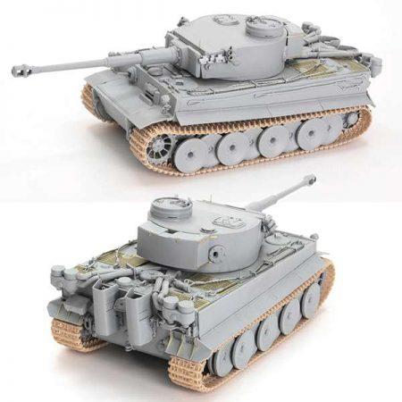 """dragon 6608 Pz.Kpfw.VI Ausf.E Sd.Kfz 181 Tiger 1 """"Tunisian Initial"""" s.Pz.Abt.501 and Pz.Rgt.7 Tunisia 1942-43 Kit en plástico para montar y pintar. Incluye piezas en fotograbado."""