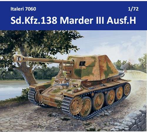 italeri 7060 SD.KFZ.PANZERJ.MARDER III AUSF.H