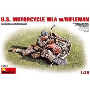 miniart 35179 US Motorcycle WLA w Rifleman