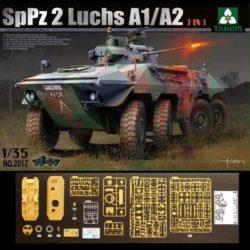takom 2017 SpPz 2 Luchs A1/A2 2in1 Kit en plástico para montar y pintar. Incluye piezas en fotograbado.