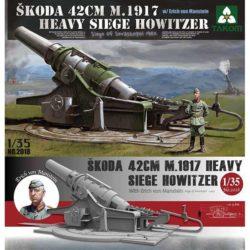 takom 2018 Skoda 42cm M 1917 Heavy Siege Howitzer Siege of Sevastopol 1942 Kit en plástico para montar y pintar. Incluye piezas en fotograbado y una figura.