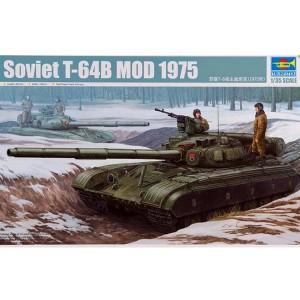 trumpeter 01581 Soviet T-64B Mod 1975 Kit en plástico para montar y pintar. Incluye piezas en fotograbado y cadenas por tramo y eslabón. Dimensiones: 261 x 105 mm Piezas: 550+