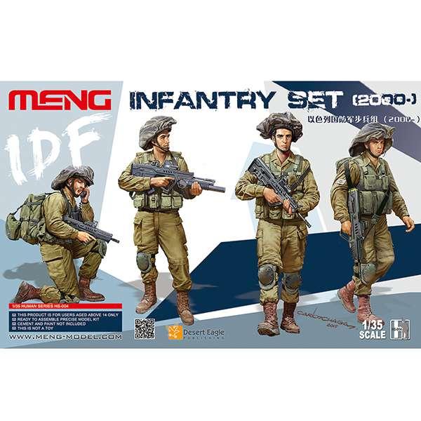 meng models hs 004 IDF Infantry Set 2000 Kit en plástico para montar y pintar. Incluye cuatro figuras de infantería Israelí actuales.