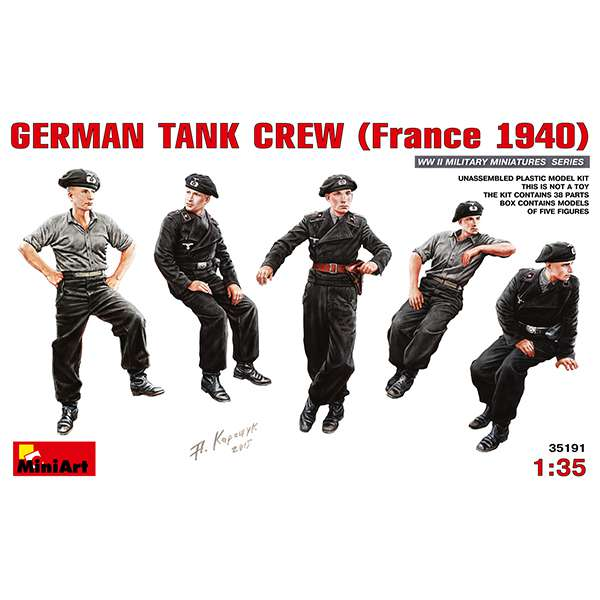 miniart 35191 German Tank Crew France 1940