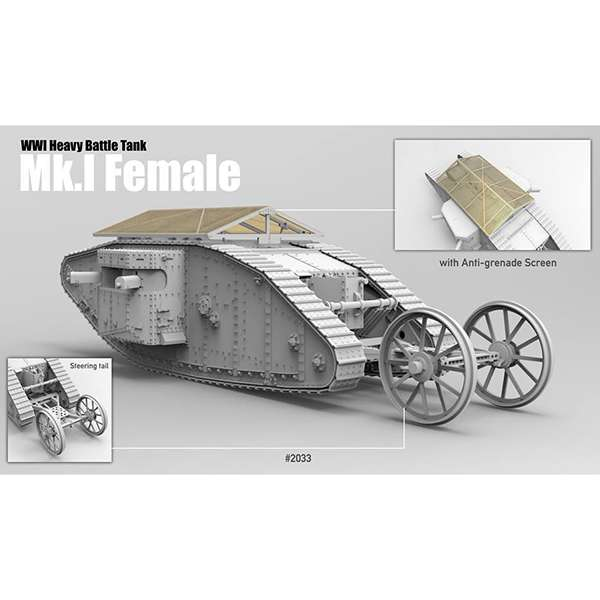 takom 2033 British Heavy Tank Mk.I Female