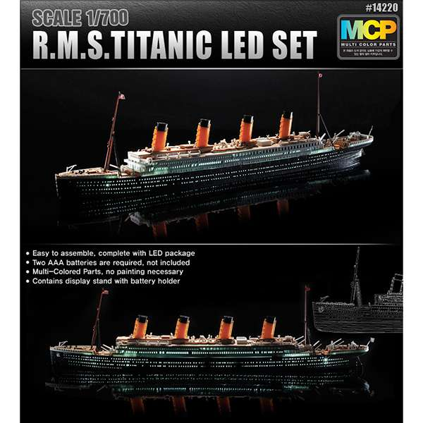 academy 14220 R.M.S. Titanic 1/700 Led Set