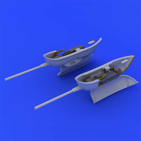 eduard brassin 648246 Bf 109 cannon pods Brassin set . Gondolas de cañones para el kit de Eduard