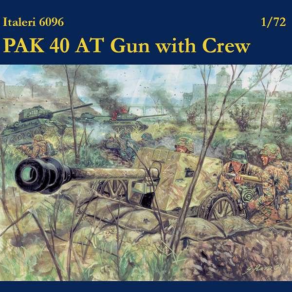 italeri 6096 PAK 40 AT Gun with Crew
