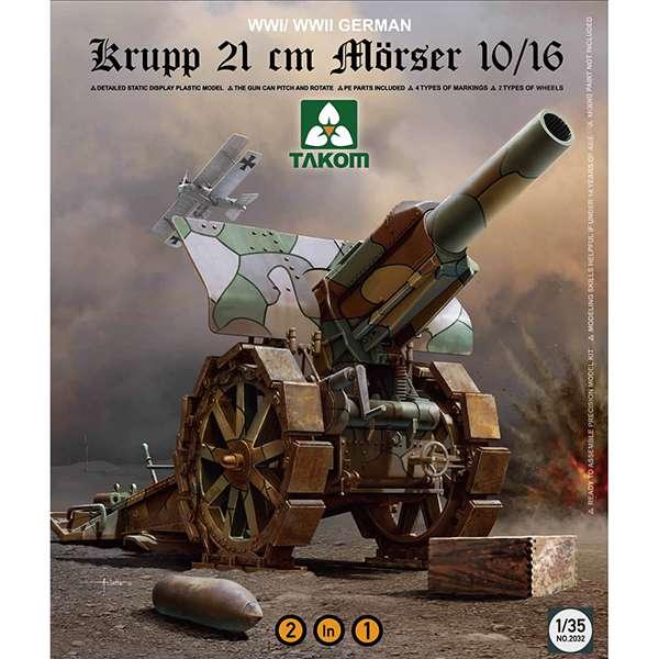 takom 2032 Krupp 21cm Morser 10/16