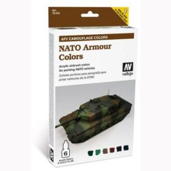 acrylicos vallejo 78413 AFV Camouflage Colors: NATO Armour Colors