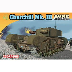 dragon 7327 Churchill Mk III AVRE Combat Engine