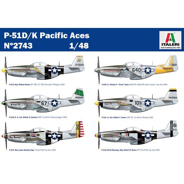 Mustang P-51D/K Pacific Aces - Mister Model