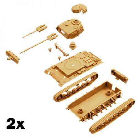 italeri 7507 PzKpfw III Ausf J 2 Fast Assembly Models