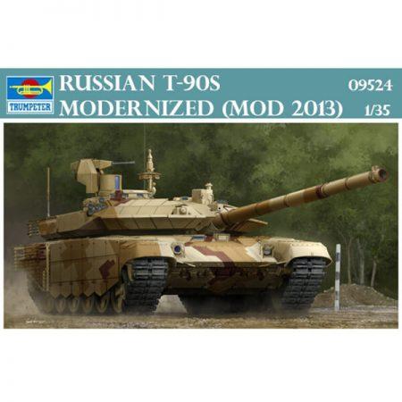 trumpeter 09524 Russian T-90S Modernized mod.2013 1/35 Kit en plástico para montar y pintar. Incluye fotograbados y cadenas por eslabones individuales.