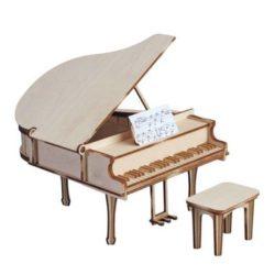 artesania latina junior 30200 Piano de Cola con Taburete y Partitura