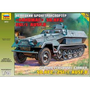 zvezda 3572 Armored carrier Sd.Kfz. 251/1Ausf.B Hanomag