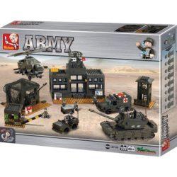 sluban m38 b7100 Sluban Army Headquarter Juego de construcción por bloques de plástico compatibles con Lego y otras marcas.
