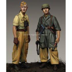 alpine miniatures 35222 1st Fallschirmjäger Division Set