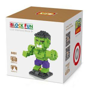 Loz 9451 El Increible Hulk 290pcs
