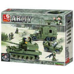 Sluban B0308 Army Elite Armored Division Juego de construcción por bloques de plástico compatibles con Lego