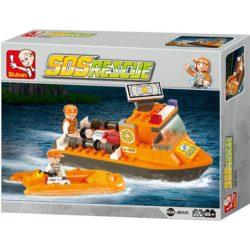 sluban b0101 Sluban B0101 First Aid Boat Juego de construcción por bloques de plástico compatibles con Lego y otras marcas