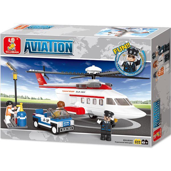 sluban b0363 Sluban B0363 Private Helicopter Juego de construcción por bloques de plástico compatibles con Lego y otras marcas.