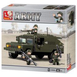 Sluban B9900 Army Armored Car Juego de construcción por bloques de plástico compatibles con Lego y otras marcas.