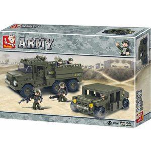 Sluban B0306 Army Land Forces Rangers Juego de construcción por bloques de plástico interconectables compatibles con Lego