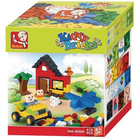 Sluban B0502 Basic Building Bricks 415 pcs Juego de construcción por bloques de plástico compatibles con Lego y otras marcas