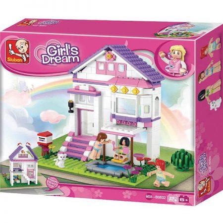 Sluban B0532 Holiday Home Juego de construcción por bloques de plástico compatibles con Lego y otras marcas