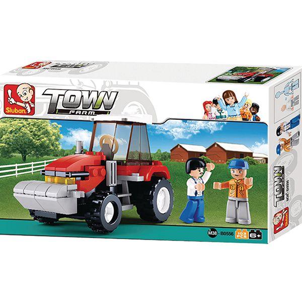 sluban m38 b0556 Sluban B0556 Tractor Juego de construcción por bloques de plástico compatibles con Lego y otras marcas