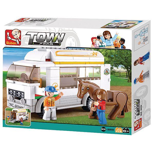 sluban m38 b0559 Sluban B0559 Horse Truck Juego de construcción por bloques de plástico compatibles con Lego y otras marcas