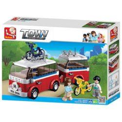 Sluban B0566 Luxe Camper Van Juego de construcción por bloques de plástico compatibles con Lego y otras marcas.