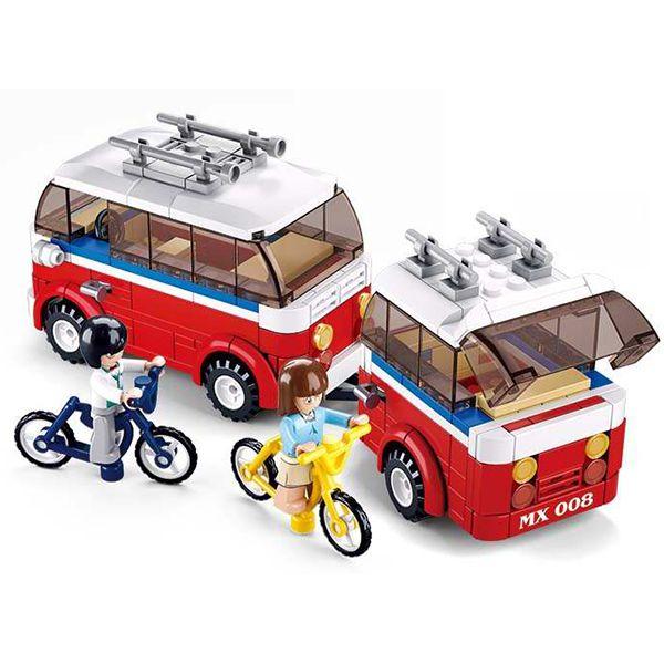 Sluban B0566 Luxe Camper Van Juego de construcción por bloques de plástico compatibles con Lego y otras marcas.Sluban B0566 Luxe Camper Van Juego de construcción por bloques de plástico compatibles con Lego y otras marcas.