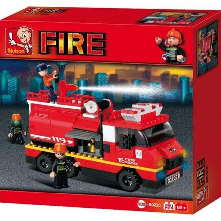 Sluban B0220 Large Fire Truck Juego de construcción por bloques de plástico compatibles con Lego y otras marcas.