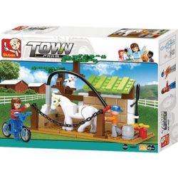 sluban b0557 Sluban B0557 Horse Wash Area Juego de construcción por bloques de plástico compatibles con Lego y otras marcas.