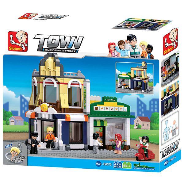 Sluban B0575 Cafe and Hotel Juego de construcción por bloques de plástico compatibles con Lego y otras marcas.