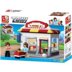 Sluban B0571 Grocery Store Frutería Juego de construcción por bloques de plástico compatibles con Lego y otras marcas.