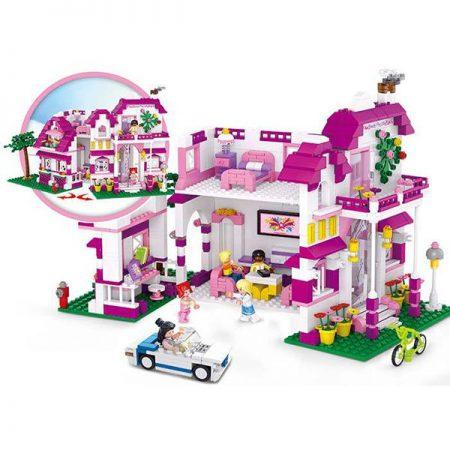 Sluban B0536 Villa Girl´s Dream Juego de construcción por bloques de plástico compatibles con Lego y otras marcas.