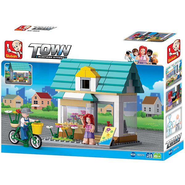 Sluban B0570 Queenie's Flowershop Juego de construcción por bloques de plástico compatibles con Lego y otras marcas.