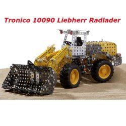 Cargadora Frontal Liebherr Tronico 10090 Completamente funcional. Construcción tipo Meccano compuesta por piezas en metal y plástico de alta calidad.