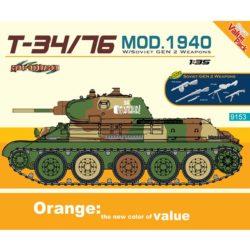 dragon 9153 T-34/76 Mod.1940 Bonus GEN2 Soviet Infantry Weapons